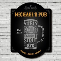 Modern Beer Personalized Bar Sign - $49.95 - $79.95