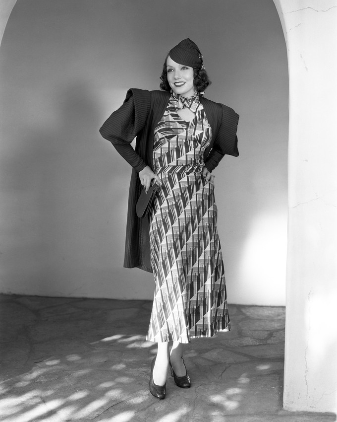 Primary image for Lupe Velez Cute in Striped Print Dress hat Hands on Hips 16x20 Canvas