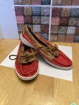 Coach Women's Richelle Topsider Boat Shoes Size 6.5 Canvas & Leather - $41.00