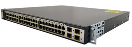 Cisco 3750G 48 Port POE Gigabit Switch C3750G-48PS-S Bin:9 - $229.99