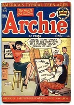 ARCHIE #44-Veronica spicy pose on cover-1950-g/vg - $100.88