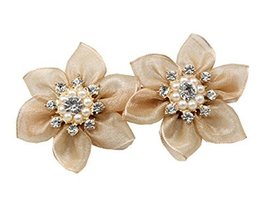 Handmade Hair Ornaments Hairpin Twist Clip Flower Hair Clips,2Pcs