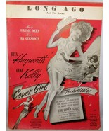 """1940's Vintage Sheet Music:  RITA HAYWORTH from """"Cover Girl"""" -Long Ago (... - $7.99"""