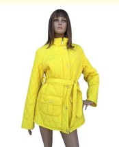 Women's Nautica Yellow Quilted Trench Coat Size Large NWOT - $39.59