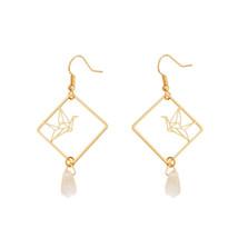 Original design fashion girl temperament feeling drop earrings earrings hollow o - $6.58