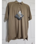 Bauer B.Cool Men's Performance Police Polo Shirt Silver Tan Size L NWT - $38.61