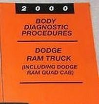 2000 Dodge RAM Truck 1500 2500 3500 Körper Diagnostische Verfahren Manue... - $39.54
