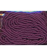 11/0 Seed Bead Czech Rocaille Half Hank Purple 8 - $4.95