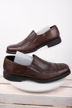 Bostonian Mens Oxford Bike Toe Loafers Shoes Sz 12 Brown Leather Slip Ons - $40.84