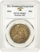 1826 50c PCGS MS63 - Bust Half Dollar - $2,958.50