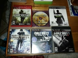 Call of Duty 6 game lot Black Ops II, World at War, Ghosts 4 Modern Warf... - $29.39