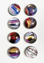 Set of 8 Round Magnetic Refrigerator Memo Holders Magnets Work Free Ship... - $12.84