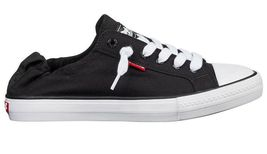NEW Levi's Black Denim Girls Stan G Canvas Sneakers Gym Shoes New in Box 1091100 image 3