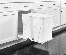 Rev-A-Shelf - RV-18PB-2 S - Double 35 Qt. Pull-Out White Waste Container... - $91.88
