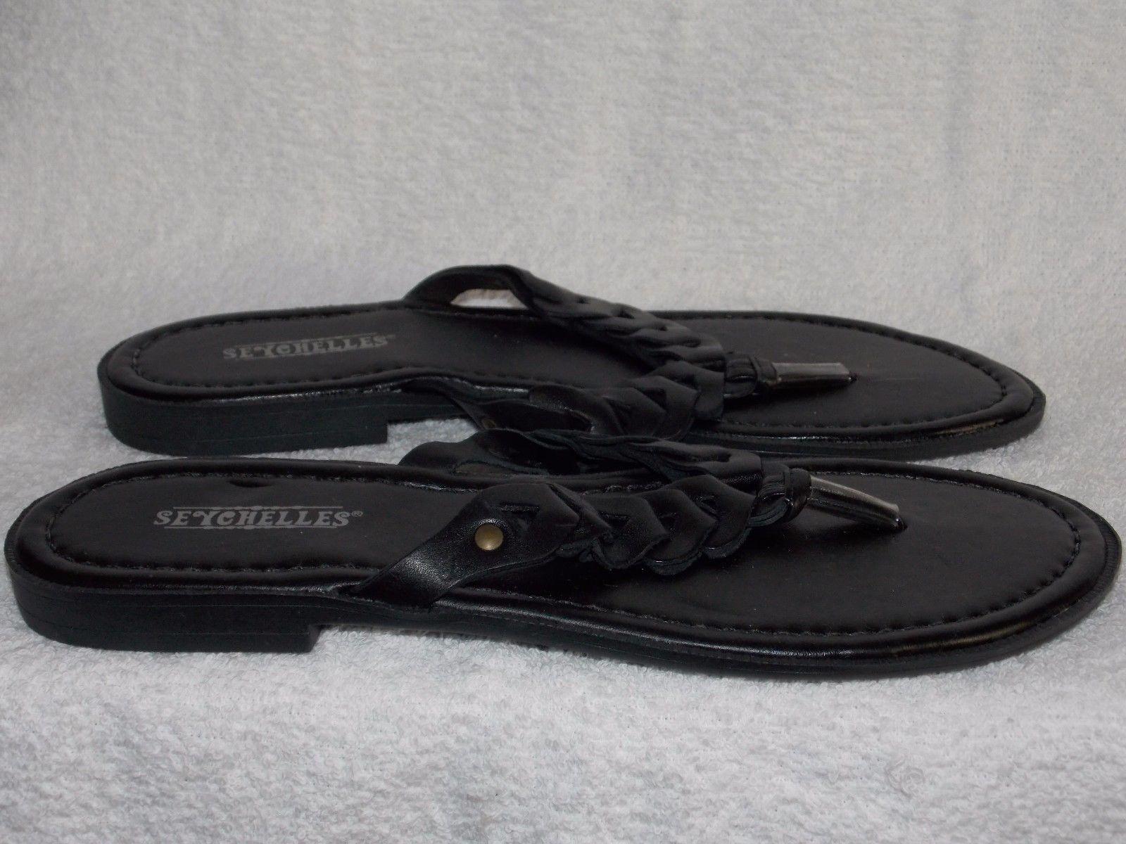 8cadc5ba8745 Seychelles Black BRAIDED Leather Thong Flip and 50 similar items