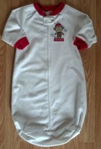 Girl's Boy's Size 0-3-6-9 M Months Carter's White Monkey Embroidered Sleep Sack - $7.00
