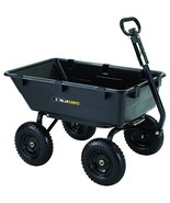Gorilla Carts GOR6PS Heavy-Duty Poly Yard Dump Cart with 2-In-1 Converti... - $156.34