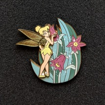 Tinker Bell Garden with pixie dust flowers. Disney lapel pin - $40.00
