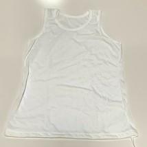 Lot 0f 6 Girls White Cami Tank Top Cotton - $7.92