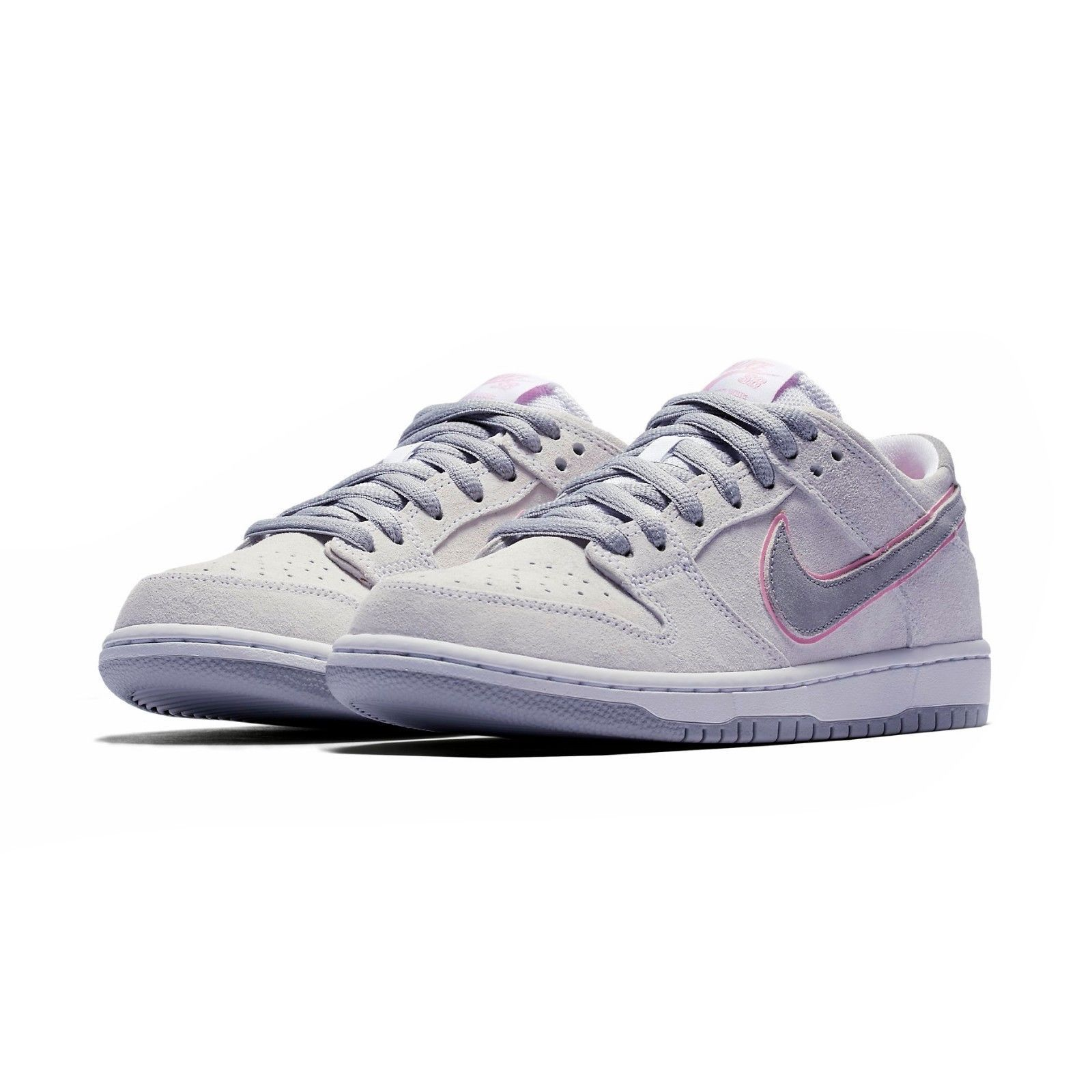 separation shoes 4b255 79d36 NIKE SB ZOOM DUNK LOW PRO IW WHITE PINK SILVER MEN SIZE 9 NEW
