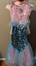 Mermaid Costume Dress Up Girls 8 to 10 Pretend Play Halloweeen - £8.65 GBP