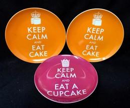 "1 Keep Calm & Eat Cupcake, 2 Keep Calm & Eat Cake 6.5""D Plates Prima Design - $59.99"