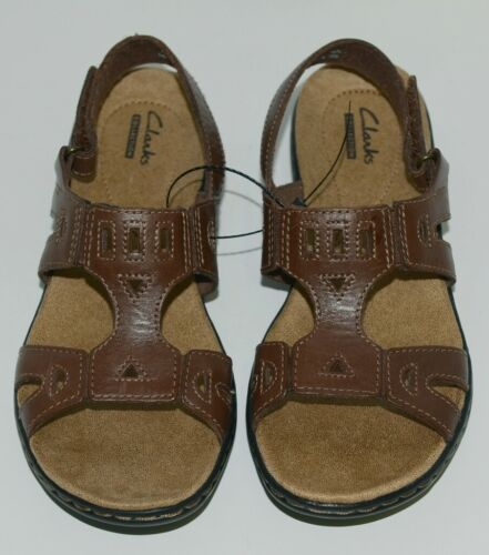 Clarks Collections 118414 Womens Leather Sandals Color Brown Size 6