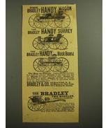 1887 Bradley Advertisement - Handy Wagon, Handy Surrey, Handy Buck Board - $14.99