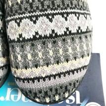 NEW Isotoner Womens Memory Foam Mule Clog Slippers Knit Sweater Pattern SM 6.5-7 - $21.13