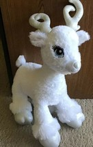 Build A Bear  Plush Merry Mission Silver White Reindeer Light Up Antlers... - $12.00