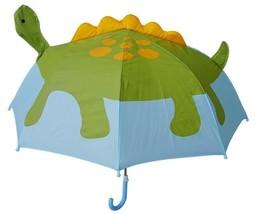 Pop Up Dino Umbrella Dinosaur Character Child Kid Size 36 Inch Size Blue... - $20.79