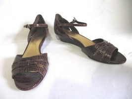 "Circa, John & David, Croc Style Leather Open Toe 1 1/2"" Heel, 7 M - $14.95"