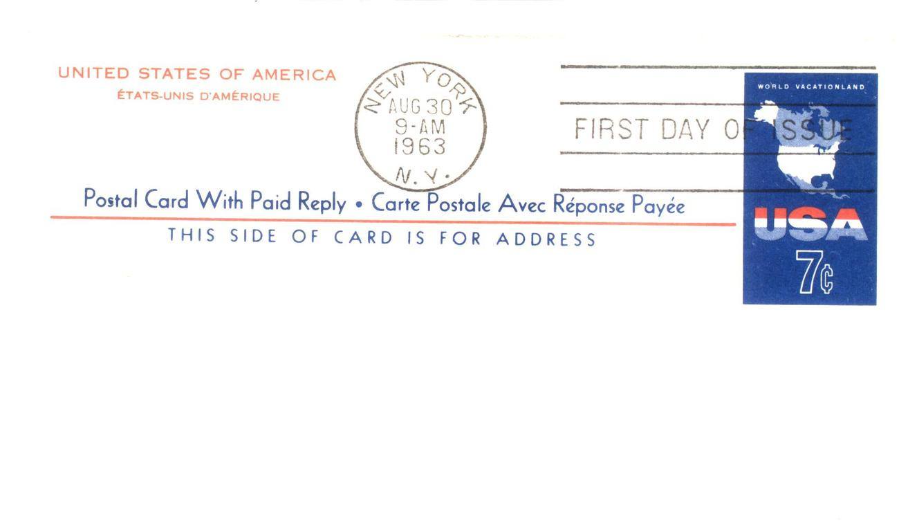 7 cents reply card fdc