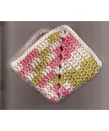 Crocheted Dish Cloth Wash Cloth 100 Percent Cotton Sage Peach Cream Vari... - $2.75