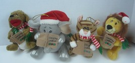 KURT S. ADLER PLUSH ORNAMENTS SINGING CHRISTMAS ANIMALS  SQUEEZE TUMMY - $23.21