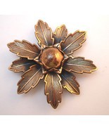 Copper by Bell  copper flower brooch - $15.00