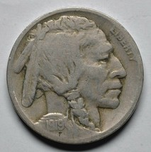 1919D Buffalo Nickel Coin Lot# A 255