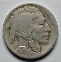 1919D Buffalo Nickel Coin Lot# A 255 image 1