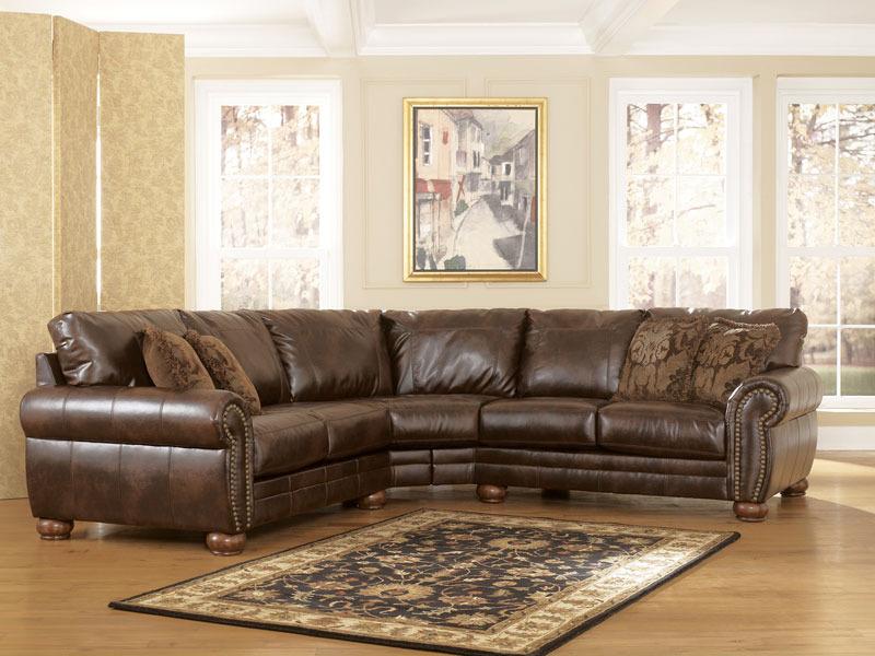 Bradford 2pcs traditional bonded leather sofa couch for Traditional leather sofa bed