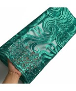 Nigerian Wedding Swiss Voile Lace Green African Laces Fabric Embroidered... - $89.09