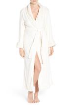 NWT New Natori White Faux Fur Robe Womens Long Very Soft Pockets M Mediu... - $162.50