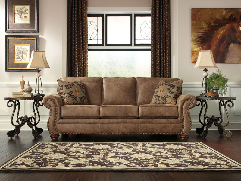 Valentine traditional rustic microfiber sofa couch set - Microfiber living room furniture sets ...