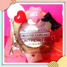 Bath & Body Works Scentportable holder Eiffel tower +frosted cupcake ref... - $9.40