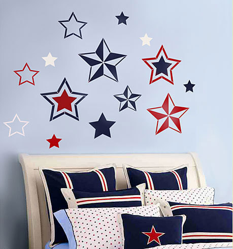 Stencils 7 Stars, Reusable wall stencils not decals, Kids room decor
