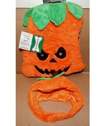 """Halloween Pet Costume Mean Pumpkin Light Up Eyes Lg Fits 18"""" To 21"""" Dogs... - $8.49"""