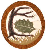 The Last Leaf: Quilted Art Wall Hanging - $245.00
