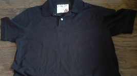 George & Martha man's black  short sleeve casual shirt size Large - $4.00