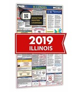 2019 Indiana Spanish All in One Labor Law Posters for Workplace Compliance - $28.34