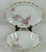 Limoges Haviland Baltimore Rose Serving Platter or Bowl Antique France Choice - $142.49