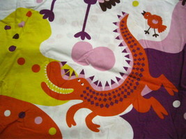 IKEA Sangfagel Twin Duvet Dragon Bird Alligator Purple Orange Pink w Pol... - $35.00